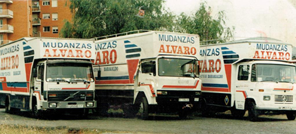 Camiones de Mudanzas Álvaro en los años 70